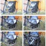 Bildserie Verschluss der Fahrradtasche