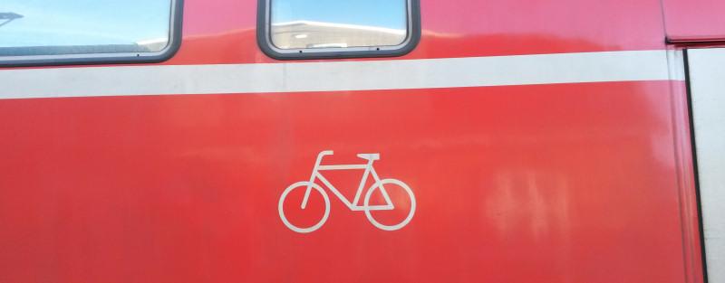 Fahrradabteil im Zug