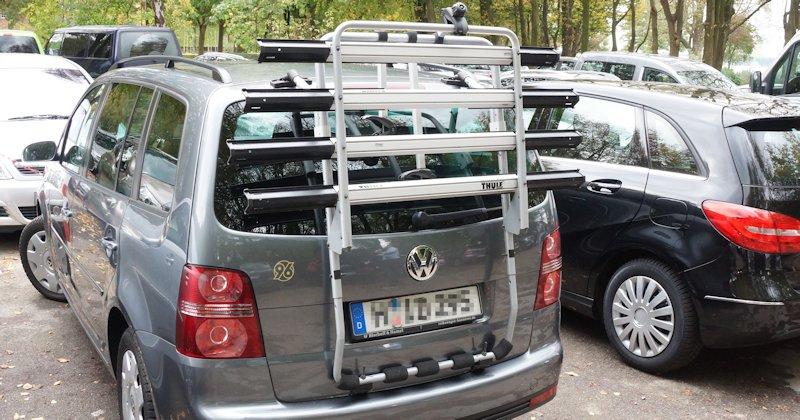 Fahrradträger für die Hecklappte am VW Touran