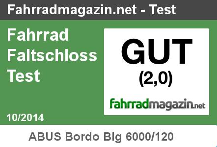 Faltschloss Test 10/2014 - Gut