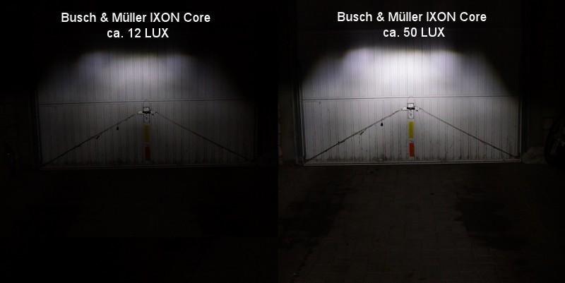 Vergleich Busch und Müller 12 LUX und 50 LUX