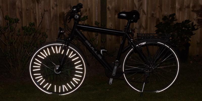 Fahrrad mit Speichenreflektoren