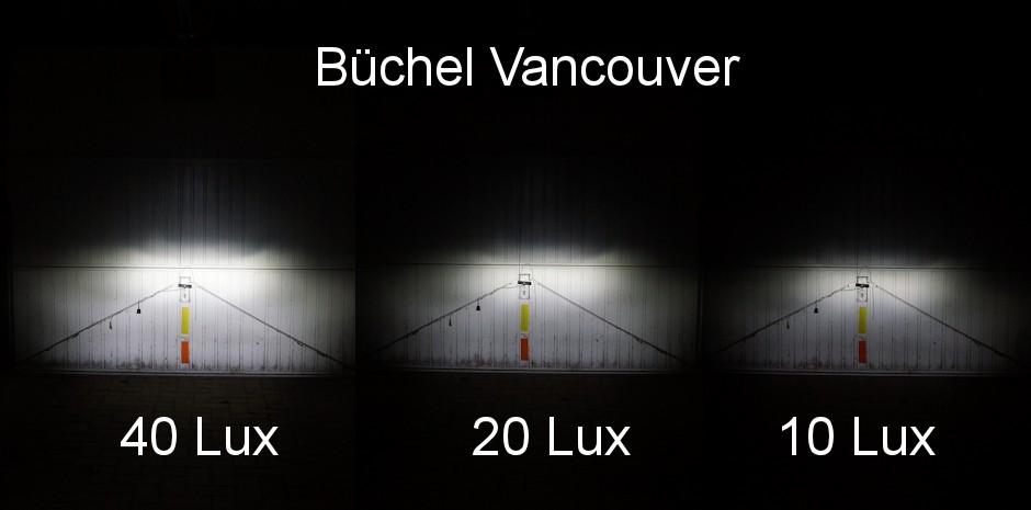 Büchel Vancouver Ausleuchtung Test