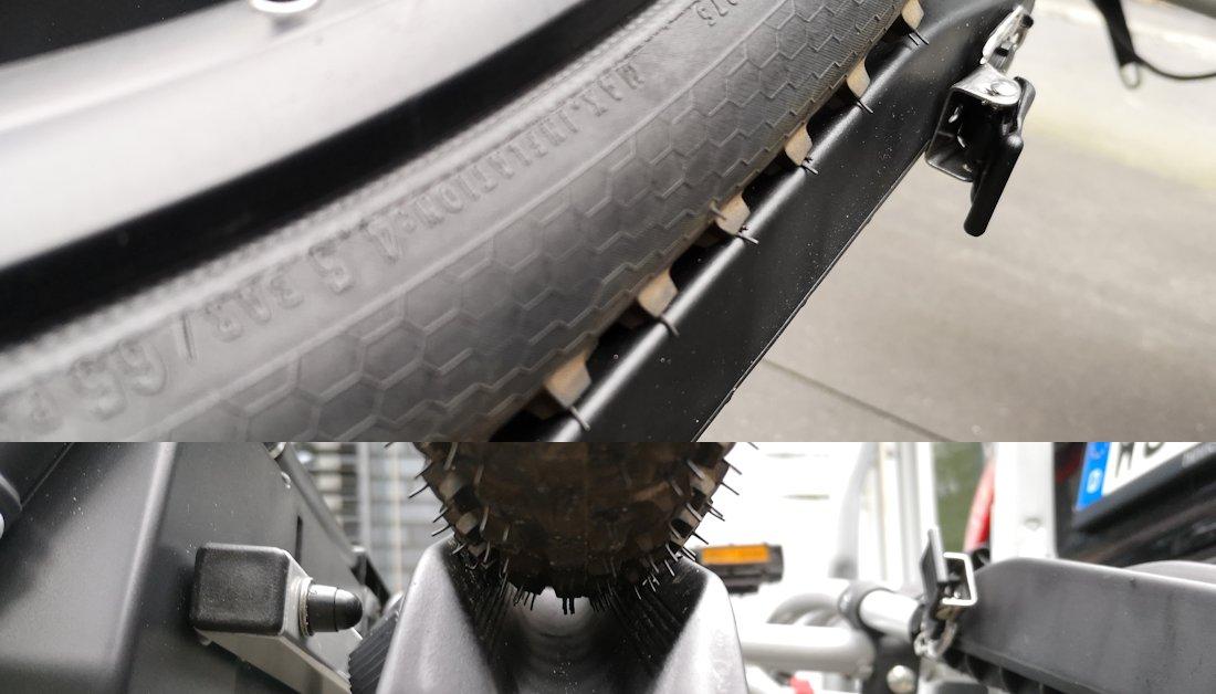 MTB Reifen EUFAB Fahrradträger Jake