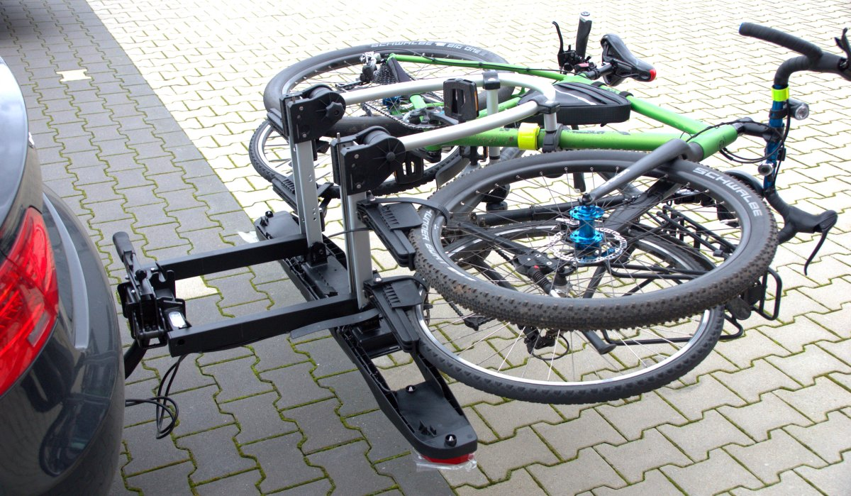 Fahrradträger Westfalia BC 60 abgeklappt