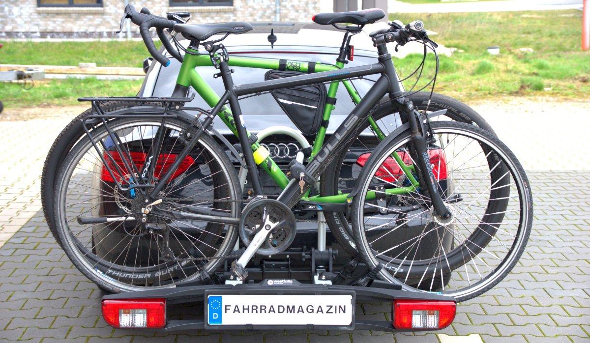westfalia bc 60 beladen mit zwei fahrrädern